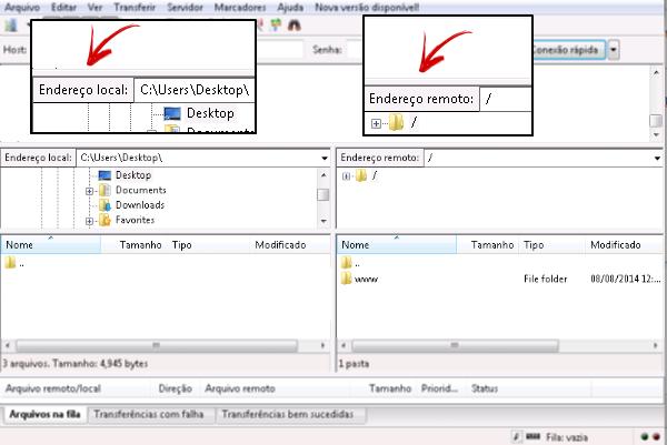 Backup de arquivos via Filezilla 2