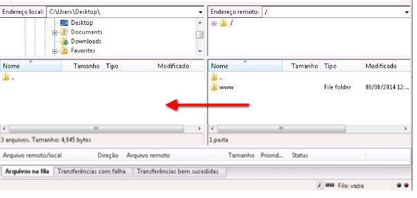 Backup de arquivos via Filezilla 4