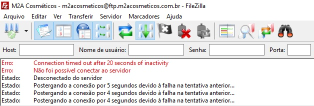 Timed Out Filezilla 1