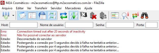 Timed Out Filezilla 1