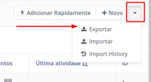 exportação leads
