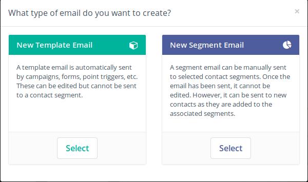 Tipos de E-mail no Mautic