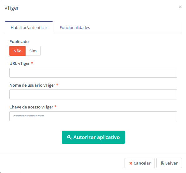 Plugin do Vtiger no Mautic