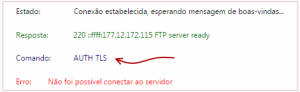 FTP via Filezilla sem utilizar encriptação TLS 1