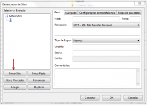 FTP via Filezilla sem utilizar encriptação TLS 3