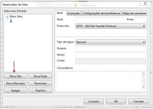 FTP via Filezilla sem utilizar encriptação TLS 3