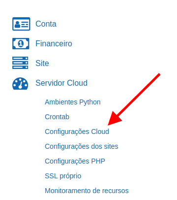 menu-configuracao-cloud