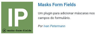 Imagem do apresentação do plugin Masks Form Fileds