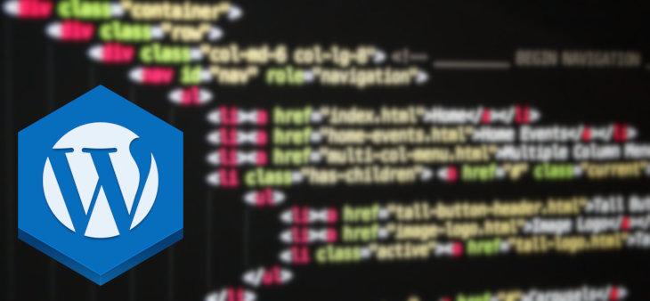 Código em html e css wordpress