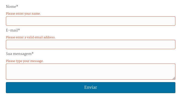 Mensagens de erro de formulário não traduzidas.