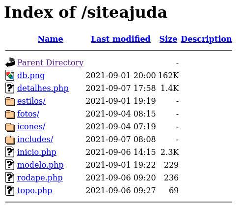 Listagem de diretórios no servidor Apache